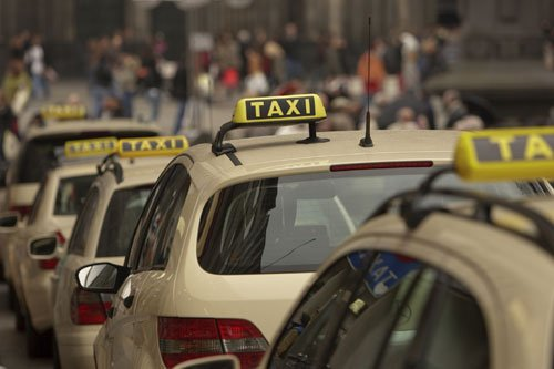 image of taxi rank